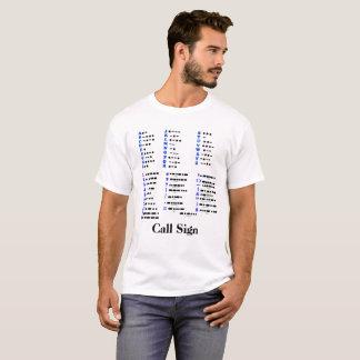 Alfabeto del código Morse, números, camiseta de la