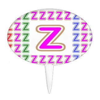 ALFABETO rosado Z ZZ ZZZ Decoración De Tarta