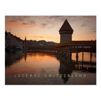 Alfalfa Suiza en la madrugada Postal