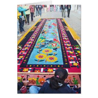 alfombra 14 tarjeta de felicitación