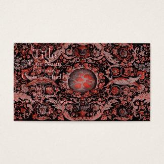 Alfombra 1 (rojo) de Savonnerie Tarjeta De Negocios