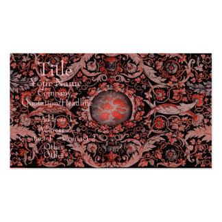 Alfombra 1 (rojo) de Savonnerie Tarjetas De Visita
