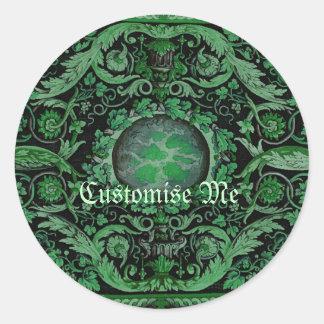 Pegatinas alfombra del vintage adhesivos for Alfombra redonda verde