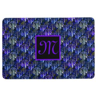 Alfombra Alfombrilla de auto con monograma azul y violeta