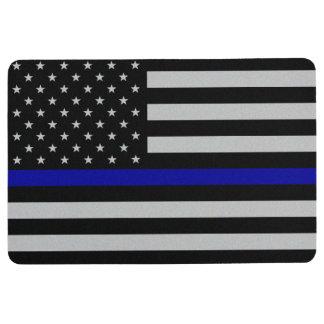 Alfombra Blue Line fino señala por medio de una bandera