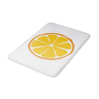 Alfombra de baño del naranja de la fruta cítrica