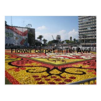 Alfombra de la flor en Tel Aviv Postal