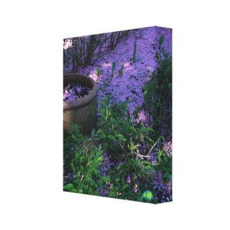 alfombra de la primavera lona envuelta para galerias