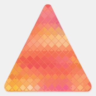 Alfombra de vuelo reconstruida calcomania de triangulo