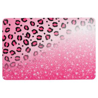 Alfombra Decoración rosada brillante del estampado leopardo