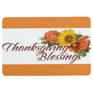 Alfombra Día de la acción de gracias de la alfombrilla de