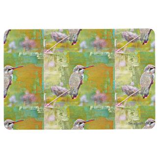 Alfombra Estera en colores pastel casera del colibrí