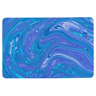 Alfombra Estilo de mármol magnífico - azul vivo