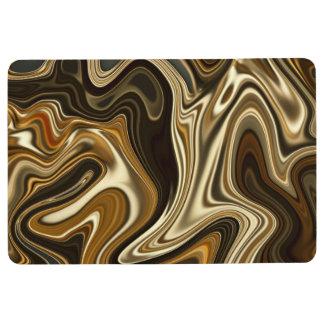Alfombra Estilo de mármol magnífico - marrón caliente