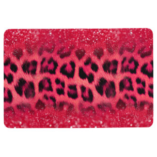 Alfombra Falsos puntos rosados del leopardo del purpurina