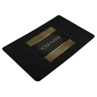 Alfombra Geometría mínima conceptual negra del oro blanco