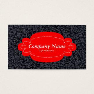 Alfombra lanosa decorativa del panel 01 - rojo - tarjeta de negocios