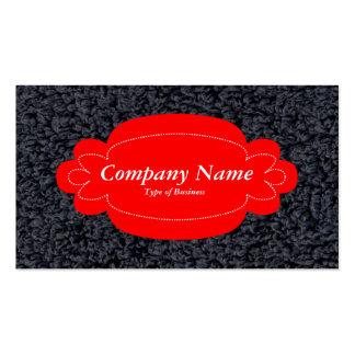 Alfombra lanosa decorativa del panel 01 - rojo - tarjetas de visita