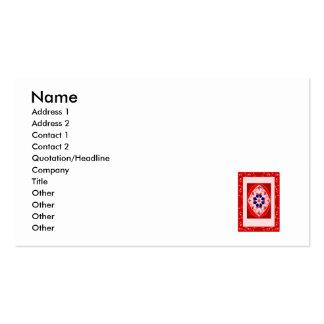 Alfombra mágica roja plantillas de tarjeta de negocio