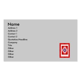 Alfombra mágica roja tarjeta de visita