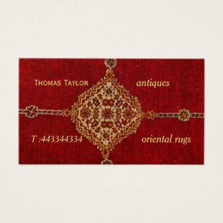 Alfombra persa antigua tarjeta de negocios