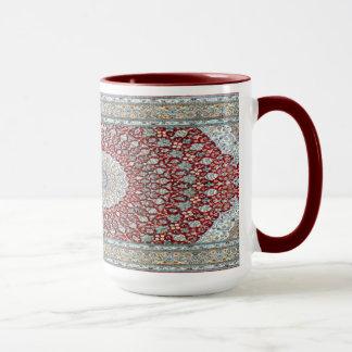 Alfombra persa en rojizo taza