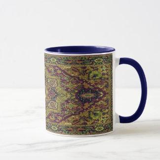 Alfombra persa en verde taza