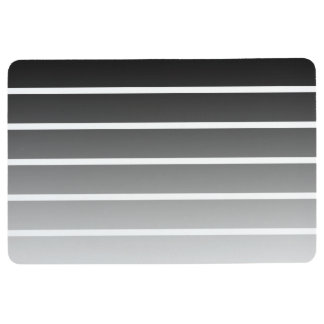 Alfombra Rayas negras y blancas modernas de la pendiente