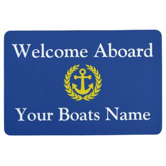 Alfombra Recepción a bordo del barco o del yate