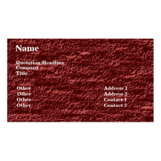 Alfombra roja de Borgoña Tarjeta De Negocio