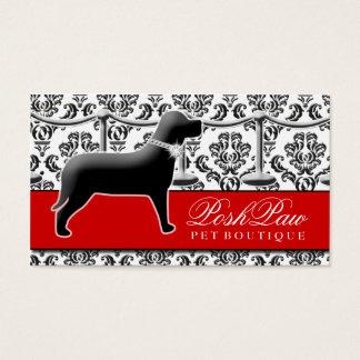 Alfombra roja del mascota elegante 311 tarjeta de negocios