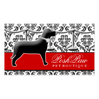 Alfombra roja del mascota elegante 311 tarjetas de visita