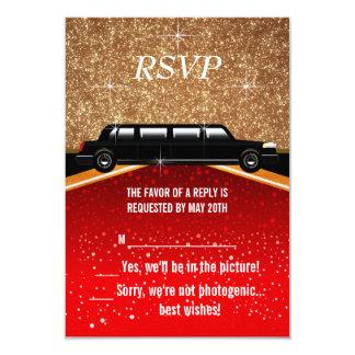 Alfombra roja RSVP de Hollywood Invitación 8,9 X 12,7 Cm