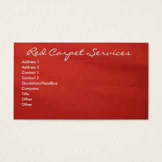 Alfombra roja tarjeta de visita