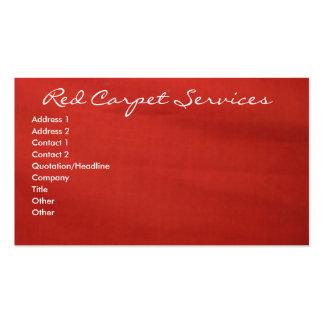 Alfombra roja tarjetas de visita