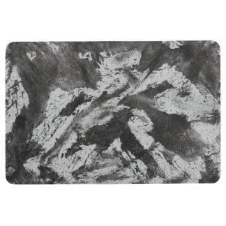 Alfombra Tinta negra en el fondo blanco #2