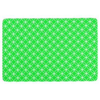 Alfombra Verde lima y blanco del MODELO de los CÍRCULOS QUE