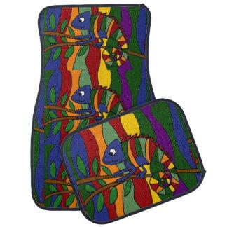 Alfombrilla de auto colorida del extracto del arte alfombrilla de coche