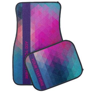 Alfombrilla de auto geométrica colorida - añada su alfombrilla de coche