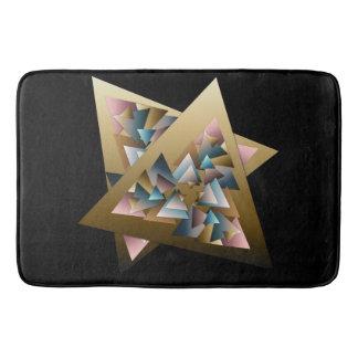 Alfombrilla De Baño Arte metálico geométrico del triángulo