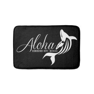 Alfombrilla De Baño Ballena de Hawaii de la bahía de Hanauma de la