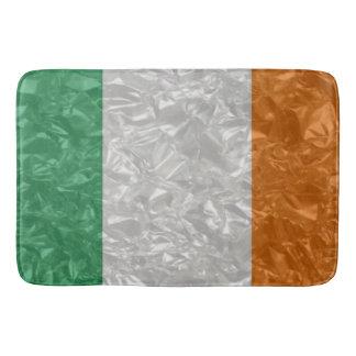 Alfombrilla De Baño Bandera de Irlanda - arrugada