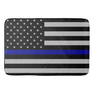 Alfombrilla De Baño Blue Line fino señala por medio de una bandera