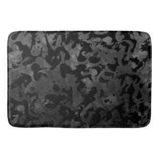 Alfombrilla De Baño Camuflaje gris negro y oscuro de Camo moderno -