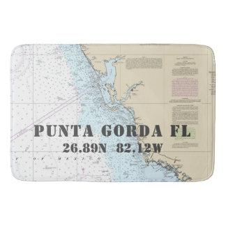 Alfombrilla De Baño Carta náutica de la latitud de la longitud de
