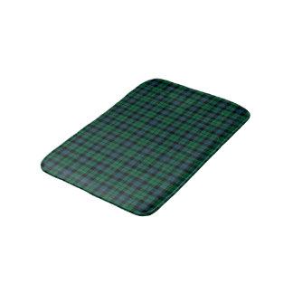 Alfombrilla De Baño Clan tartán escocés azul y verde de MacKay