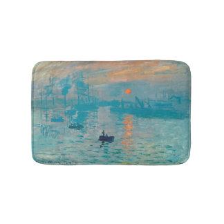 Alfombrilla De Baño CLAUDE MONET - impresión, salida del sol 1872