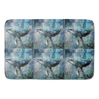 Alfombrilla De Baño Colección de la ballena azul