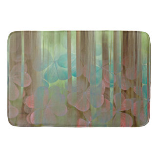 Alfombrilla De Baño Collage de Oxalis y de árboles el | Seabeck, WA