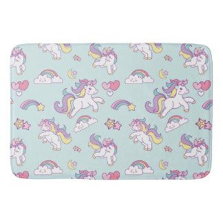 Alfombrilla De Baño Color en colores pastel del unicornio mágico lindo